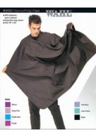 3012 Haircutting Cape Polyester - Black