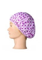 Shower cap -purple pattern