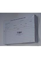 Santorini Salon Record Card (100 white)